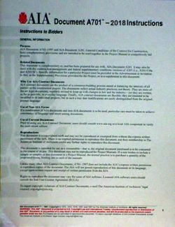 Contract Document A701 by the AIA