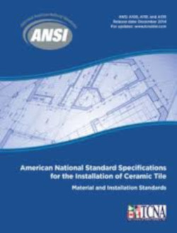 American National Specifications  for the Installation of Ceramic Tile