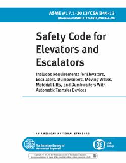 Safety Code for Elevators and escalators ASME A17.1 CSA B44