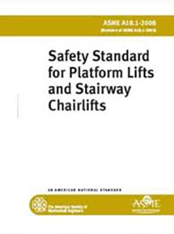 Safety Standard for platform lift and wheelchairs, asme a18