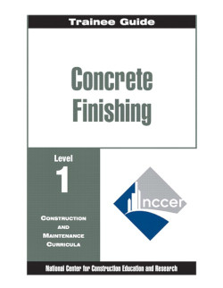 concrete finishing level one