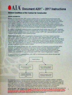 AIA 201 General Conditions of the contract for construction