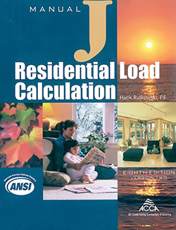 Residential Load Calculations - Manual J