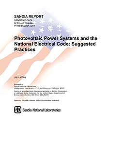 Photovoltaic Power Systems and The National Electrical Code