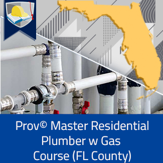 Prov© Master Residential Plumber with Gas Course (Florida County)