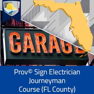 Prov© Sign Electrician Journeyman Course (Florida County)