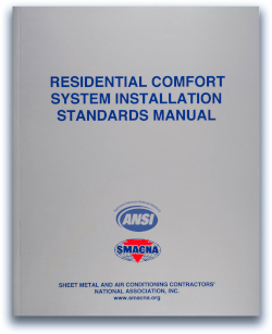Residential Comfort Systems Installation Standards Manual SMACNA
