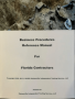 Florida Contractor's Business Procedures Reference Manual
