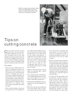 tips on cutting concrete