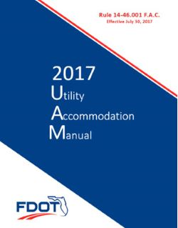 FL DOT Utility Accommodation Manual